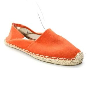 SOLUDOS ORANGE CANVAS ESPADRILLES LOAFERS FLATS 7